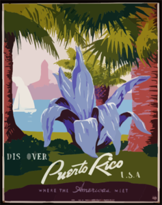 Discover Puerto Rico U.s.a. Where The Americas Meet. Clip Art