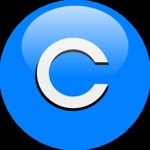 Blue C Clip Art at Clker.com - vector clip art online, royalty free ...