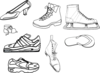 Eight Boots And Shoes Clip Art