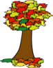 Autumn Tree For Quiz Clip Art