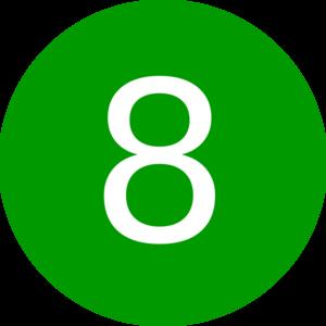 number 8 green round clip art at clker com vector clip art rh clker com free clipart number 8 free clipart number 8