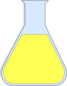 Chemistry Flash Yellow Clip Art