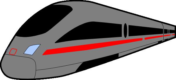 Grey Speed Train Clip Art at Clker.com - vector clip art online ...