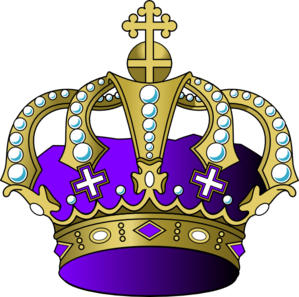 Light Purple Crown Clip Art