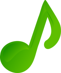 Green Music Note Clip Art