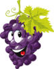 Cartoon Grapes Icons Clip Art