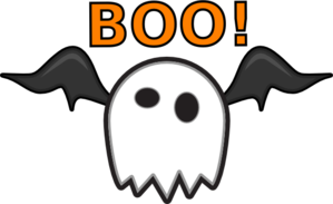 Ghost Saying Boo! Clip Art