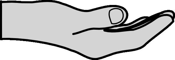 Open Hand Clip Art at Clker.com - vector clip art online ...