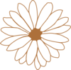 Brown Flower Clip Art