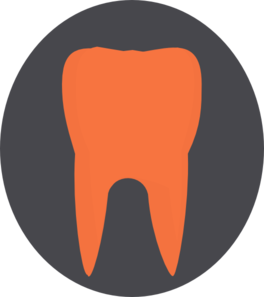 Orange Tooth5 Clip Art