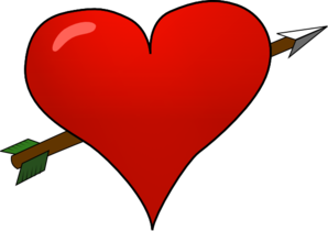 Valentine Heart Arrow Clip Art