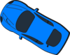 Blue Car - Top View - 150 Clip Art