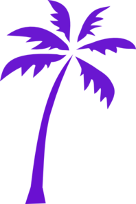 Purple Palm Tree Clip Art