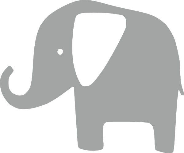 gray elephant free clip art - photo #3