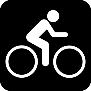 Black Sign Bike Clip Art