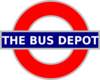 London Tube Sign Bus Depot Clip Art