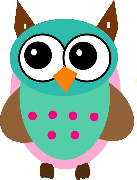 aqua   pink owl clip art at clker com vector clip art clipart of owls on a branch clipart of owls for halloween