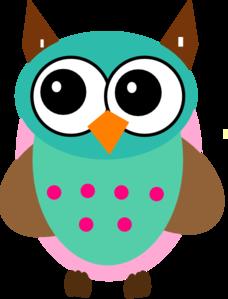 aqua pink owl clip art at clker com vector clip art online rh clker com Owl in Tree Clip Art Blue Owl Clip Art