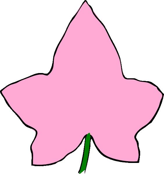 ivy leaf big pink clip art at clker com vector clip art online rh clker com aca clip art aka clipart