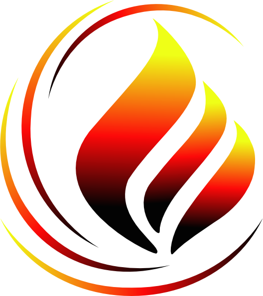 Flame Logo 3 Cli...K Logo In Fire