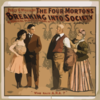 Percy G. Williams Presents The Four Mortons Breaking Into Society A Musical Farce In Three Acts. Clip Art