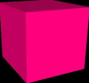 Pink Cube Clip Art at Clker.com - vector clip art online ...