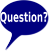 Blue Bubble Question Clip Art