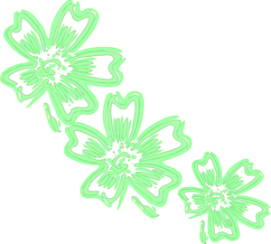 Lighter Green Flowers Clip Art at Clker.com - vector clip ...
