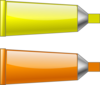 Color Tube Yellow Orange Clip Art
