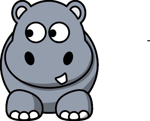 Hippo Looking Left Clip Art at Clker.com - vector clip art ...