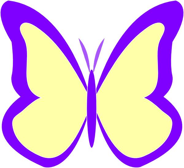 Purple Butterfly Scroll Clip Art At Clker Com: Purple Ivory Butterfly Clip Art At Clker.com