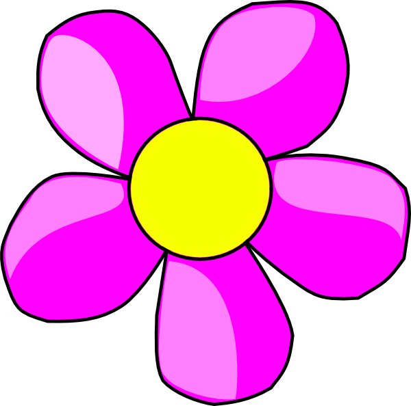 Purple Flower clipart hawaii flower  Pencil and in color