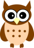 Little Brown Owl Clip Art