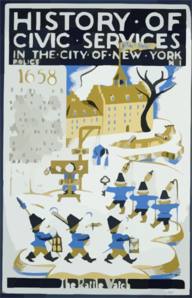 History Of Civic Services In The City Of New York Police No. 1 : The Rattle Watch. Clip Art