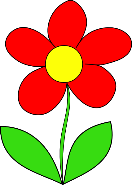 Red Flower Clip Art at...