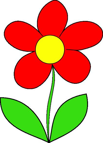 Red Flower Clip Art at Clker.com - 38.2KB