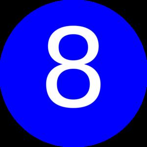 number 8 blue background clip art at clker com vector clip art rh clker com number 8 clipart black and white number 8 clipart black and white