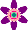 Geometric Flower Clip Art