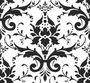 Charcoal Damask Clip Art
