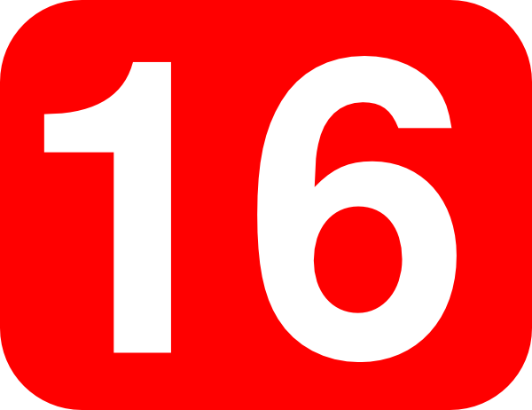 Number 16 Red Background Clip Art at Clker.com - vector ...