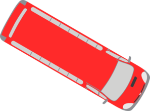 Red Bus - 330 Clip Art