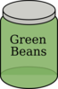 Green Bean Jar Clip Art