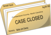 Case Closed Clip Art