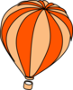 Hot Air Balloon Grey Clip Art