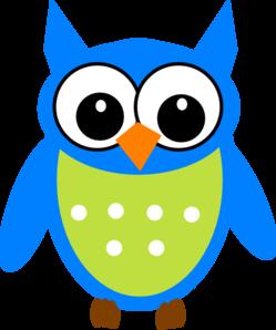 Blue/green Owl Clip Art at Clker.com - vector clip art ...