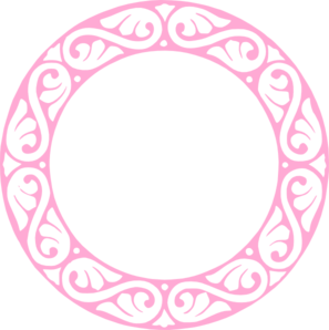 Pink Ornamental Circle Clip Art