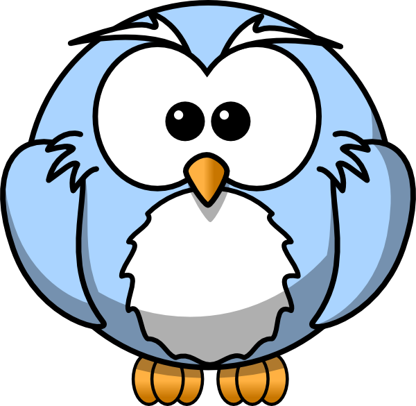 blue cartoon owl clip art at vector clip art