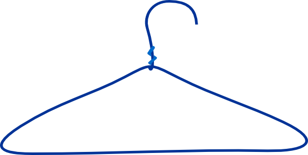 Large Blue Clothes Hanger Clip Art at Clker.com - vector clip art ...