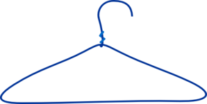 Large Blue Clothes Hanger Clip Art