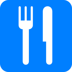 Fork And Knife Light Blue Clip Art